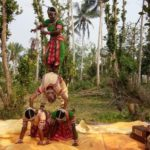 Guest enjoy the beautyful dance of Gotipua, at village of Odisha