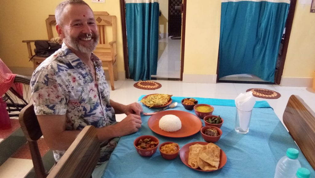Guest enjoy the traditional classical food of Odisha