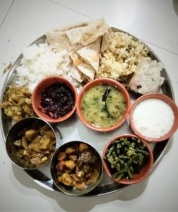 Classical Odia Traditional Food offer to guest